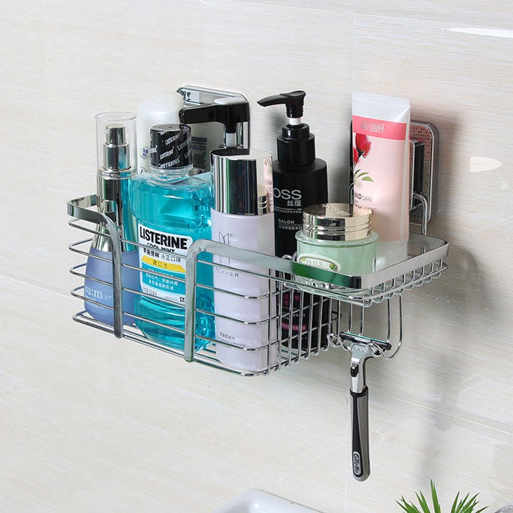 Stylish Bath Shower Caddy Stainless Steel Wall Mount Hanging ...