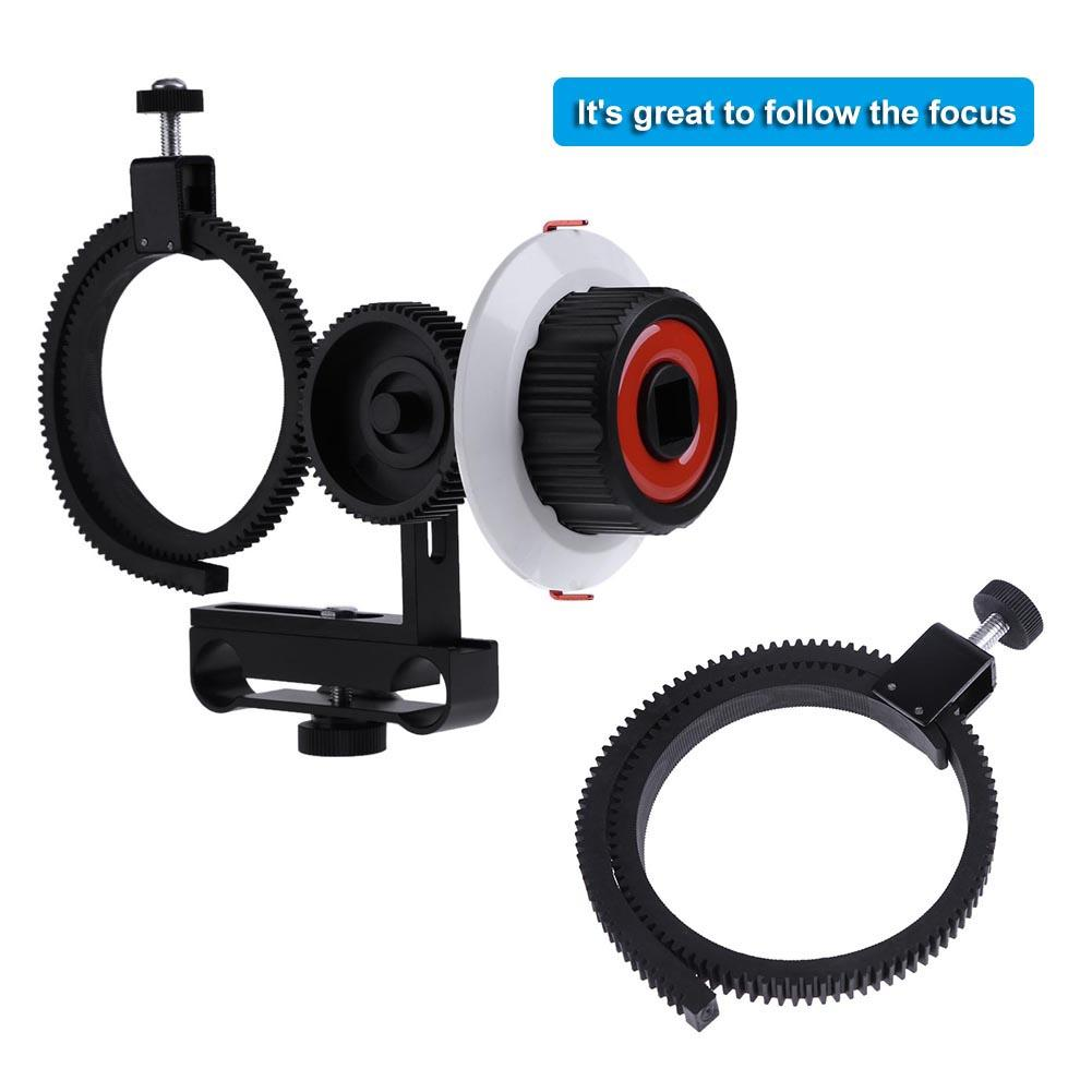 Camera Follow Focus Limit Follow Focus with Adjustable Gear Ring Belt for Canon//Nikon//Video Cameras//DSLR Cameras