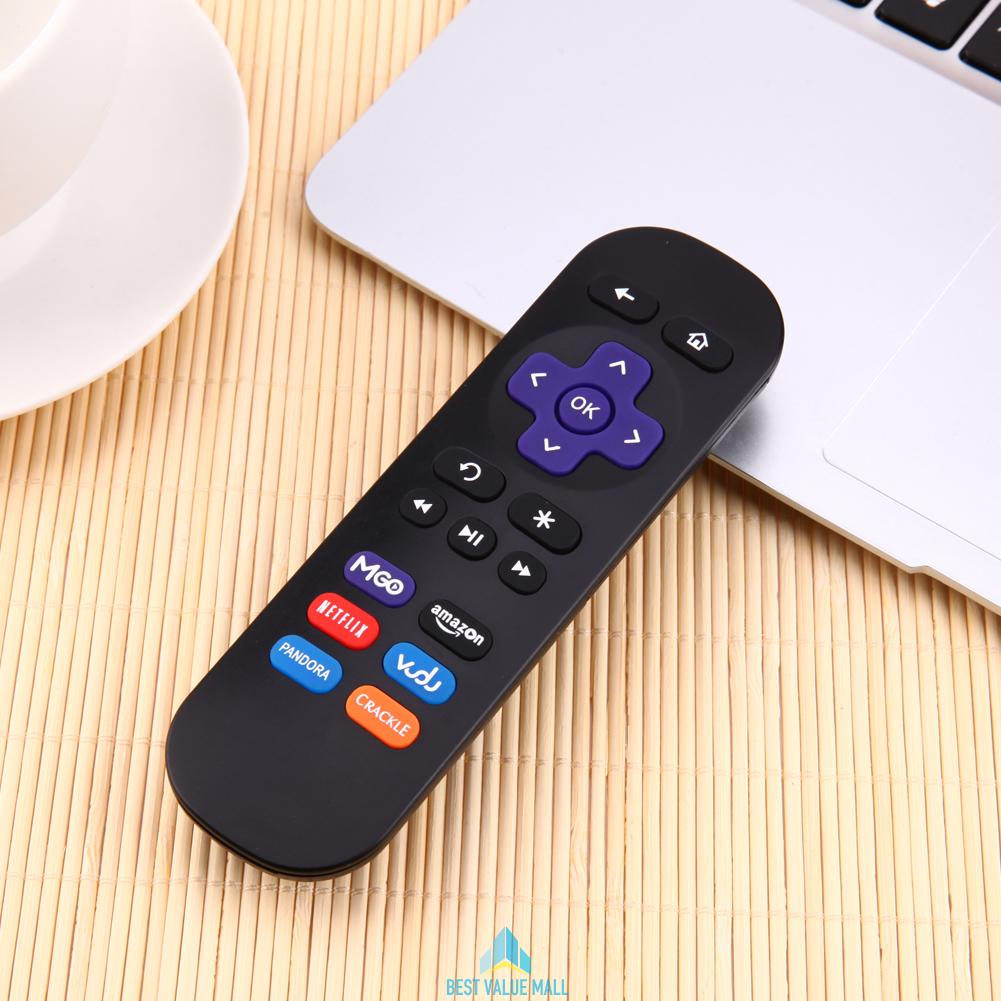 Black Replacement Remote Control For Roku 1 2 3 4 Lt Hd