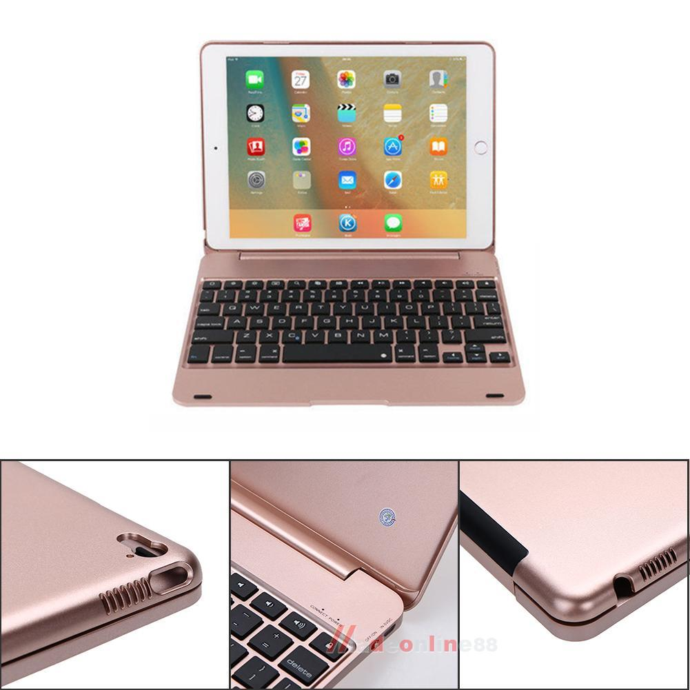 rose gold f19 bluetooth keyboard smart folio case for ipad. Black Bedroom Furniture Sets. Home Design Ideas