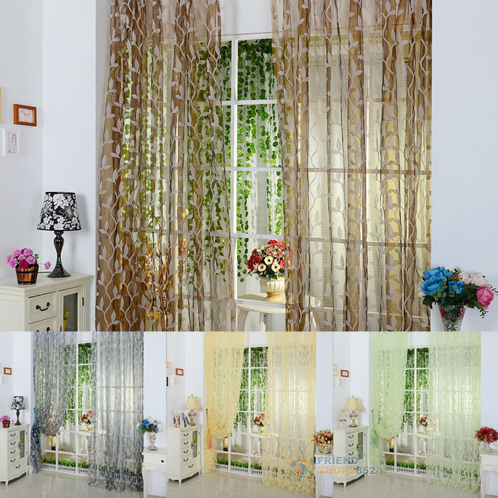 Curtain For Balcony: Home Decor Tulle Voile Door Window Curtain Balcony Panel
