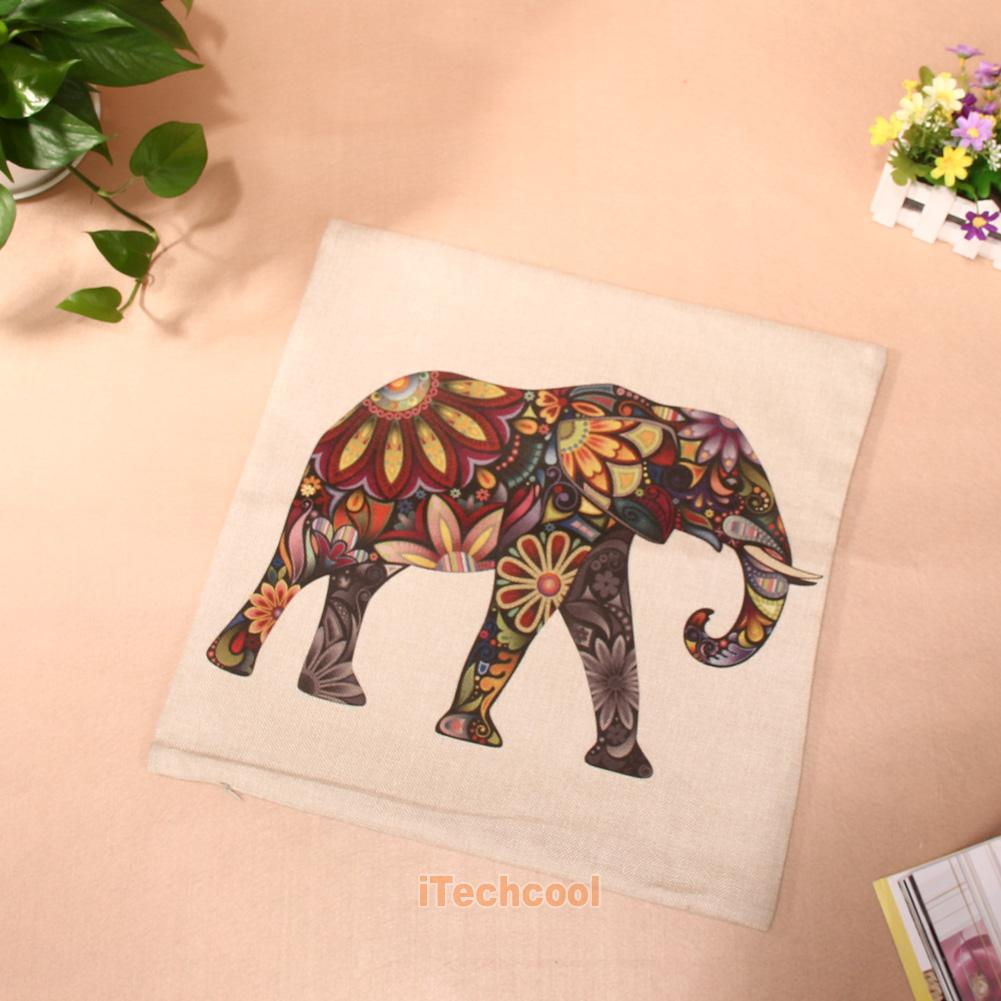Animal Shaped Eye Pillow : European Eye Pillow Case Cotton Linen Animal Cartoon Cushion Cover Square 18x18