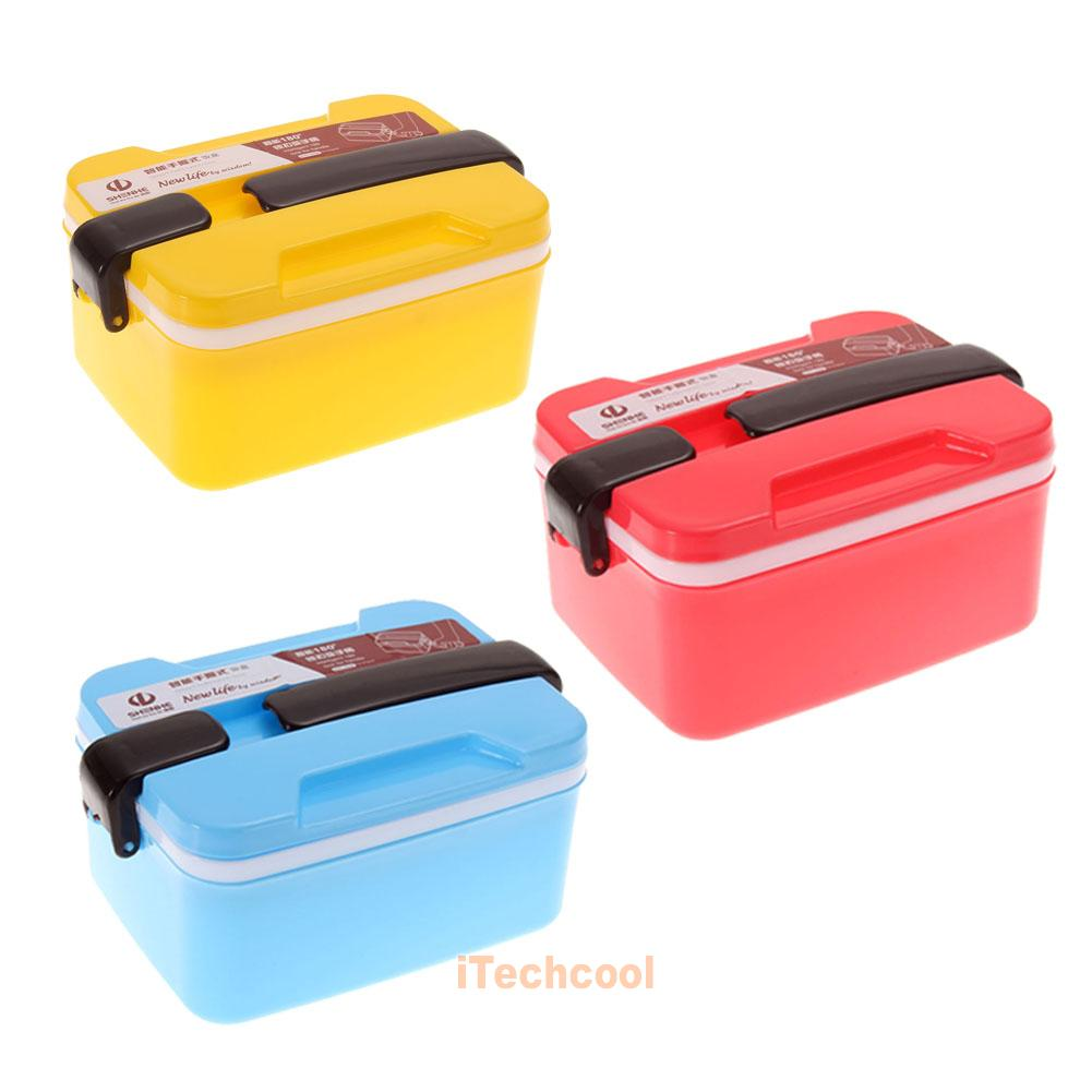 2layer microwave plastic bento lunch box picnic food. Black Bedroom Furniture Sets. Home Design Ideas