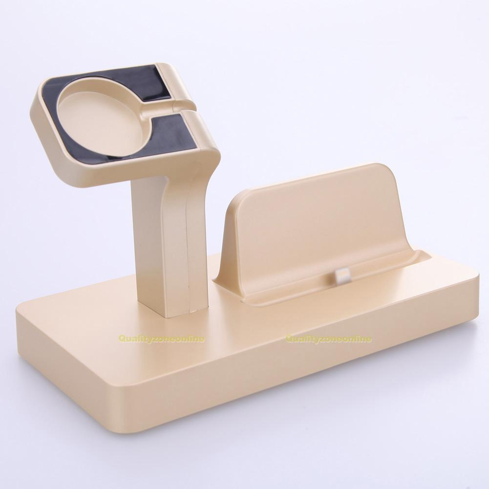 socle recharge dock station chargeur support pour iphone apple iwatch smartphone ebay. Black Bedroom Furniture Sets. Home Design Ideas