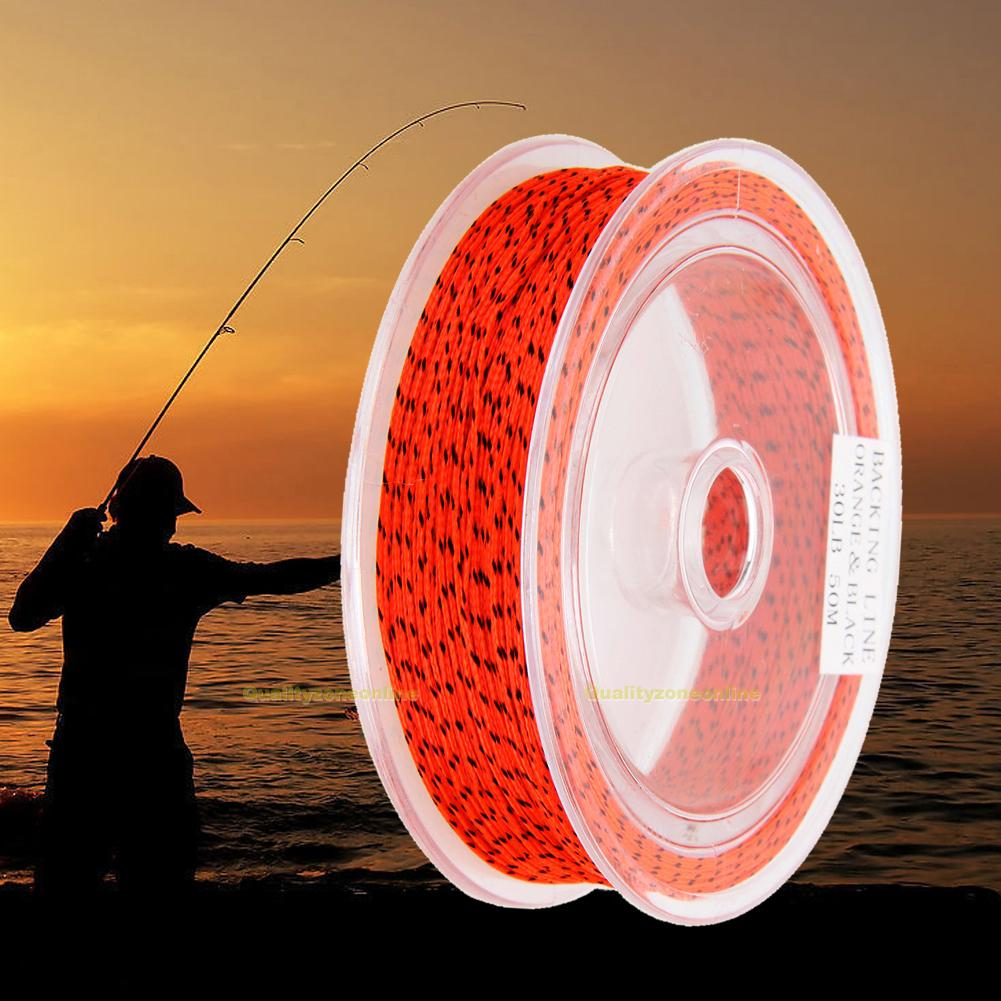 50m 20//30LB Fly Line Backing Braided Line Fly Fishing Trout Line /& Loop 5 Colors