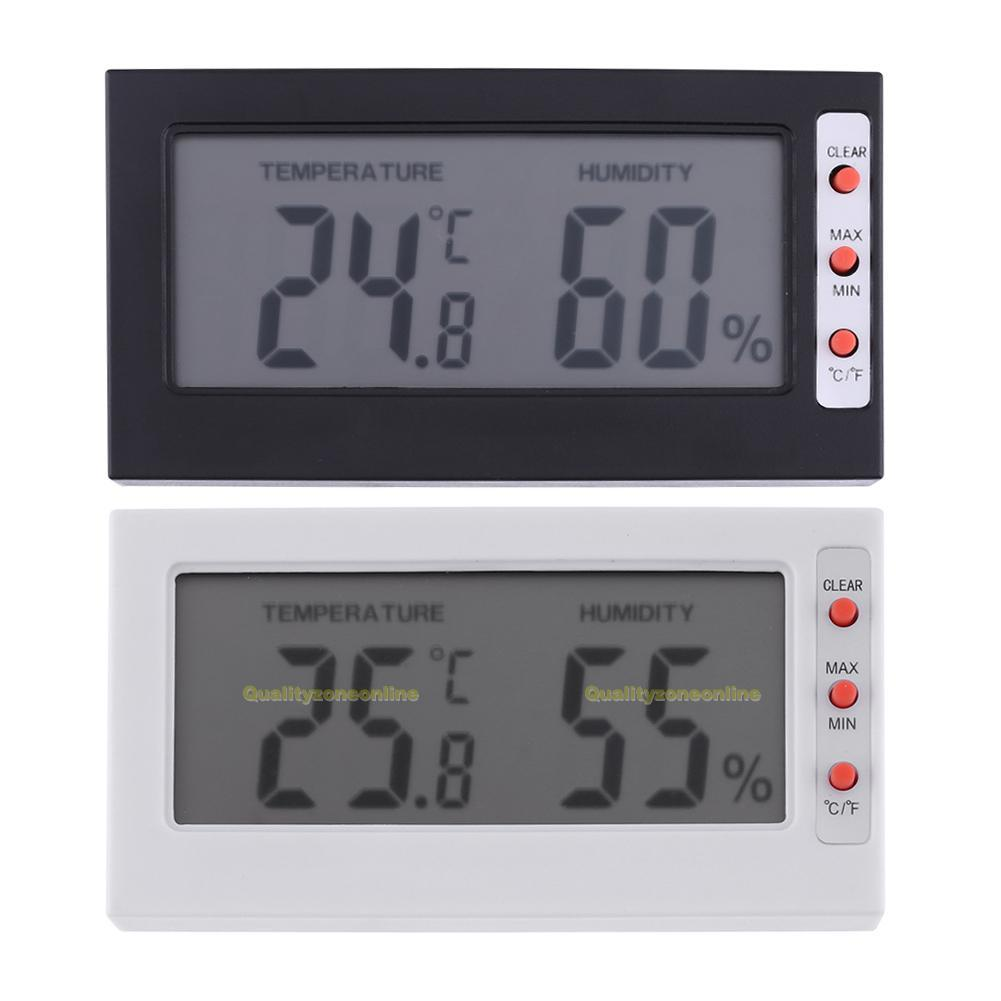 Funk Wetterstation Mini Dünne Digital Thermometer Hygrometer Innen Raum  Aquarium