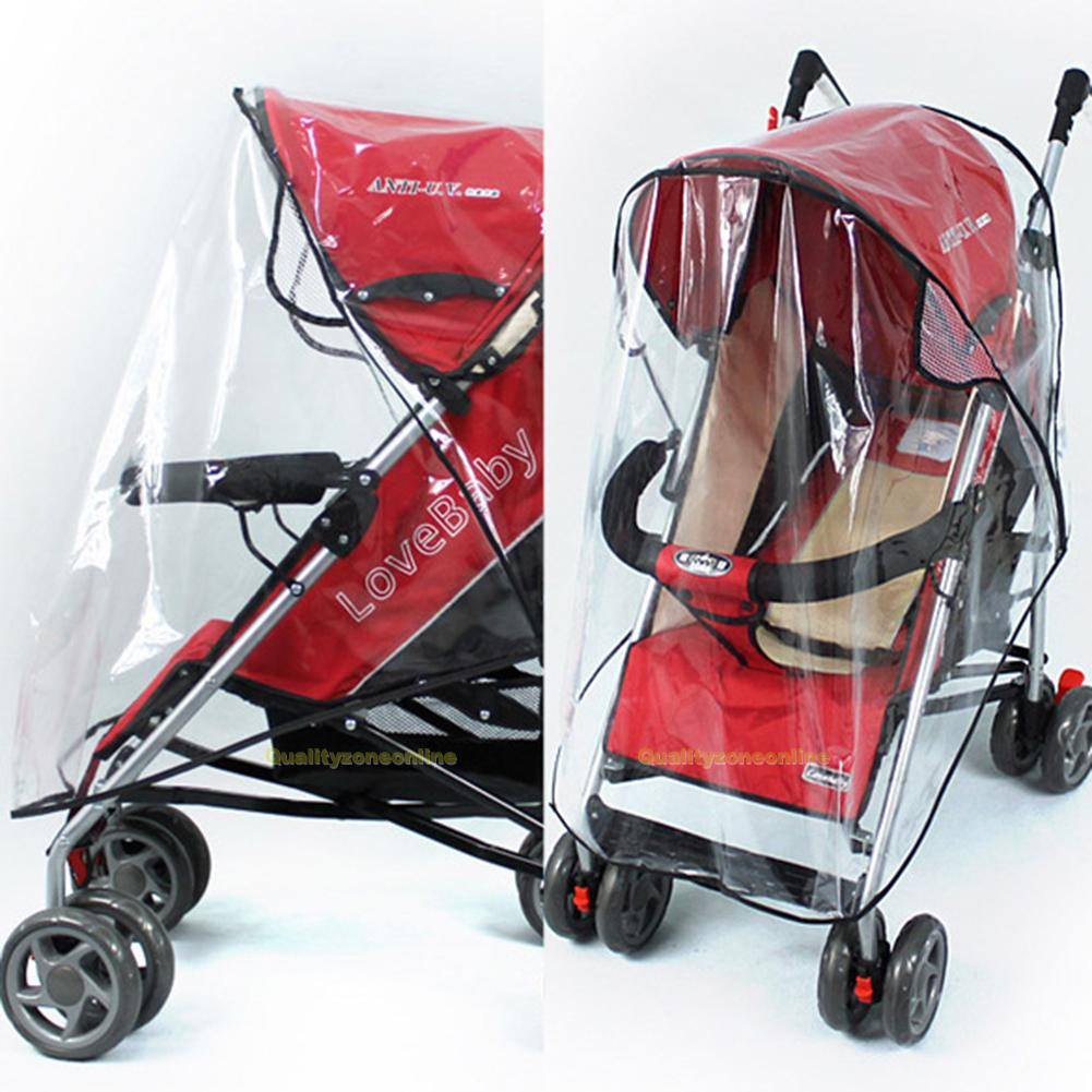 universal regenschutz regenverdeck regenplane regenhaube f r kinderwagen buggy ebay. Black Bedroom Furniture Sets. Home Design Ideas