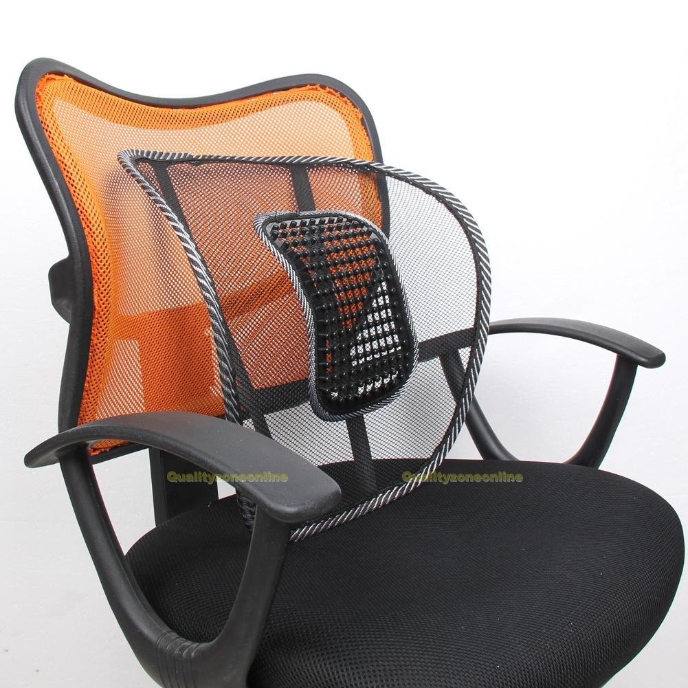 bureau si ge chaise massage dos coussin lombaire support mesh maison voiture ebay. Black Bedroom Furniture Sets. Home Design Ideas