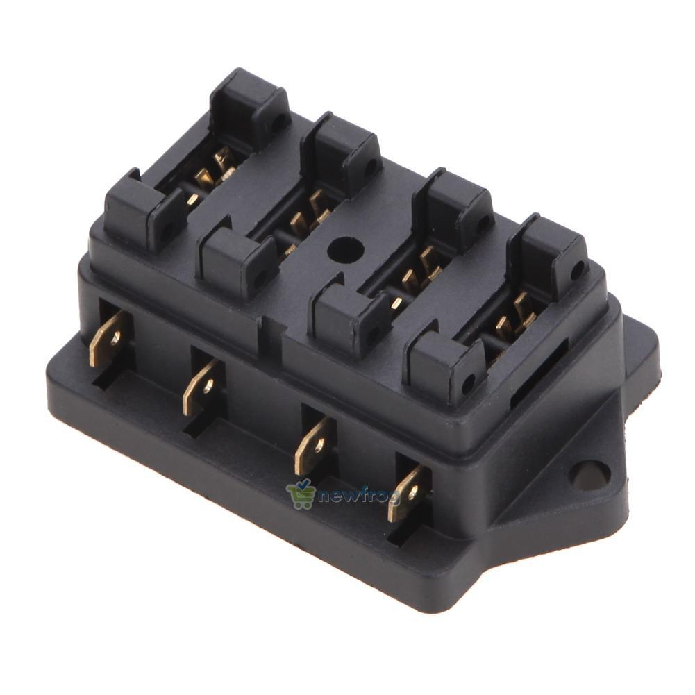 4 way fuse blade holder box block car vehicle automotive blade fuse box with ground blade fuse box #8