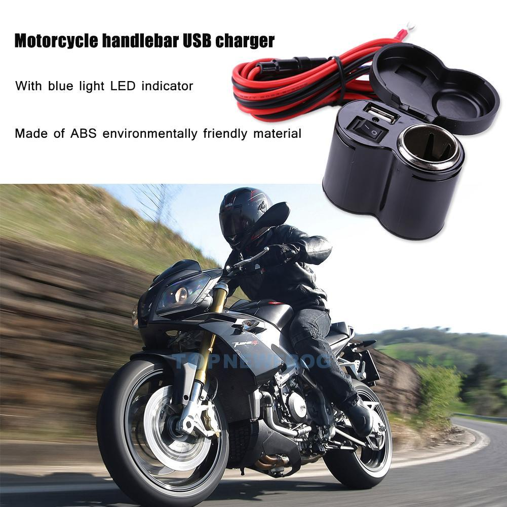 12 24v motorrad usb zigarettenanz nder steckdose adapter 1. Black Bedroom Furniture Sets. Home Design Ideas