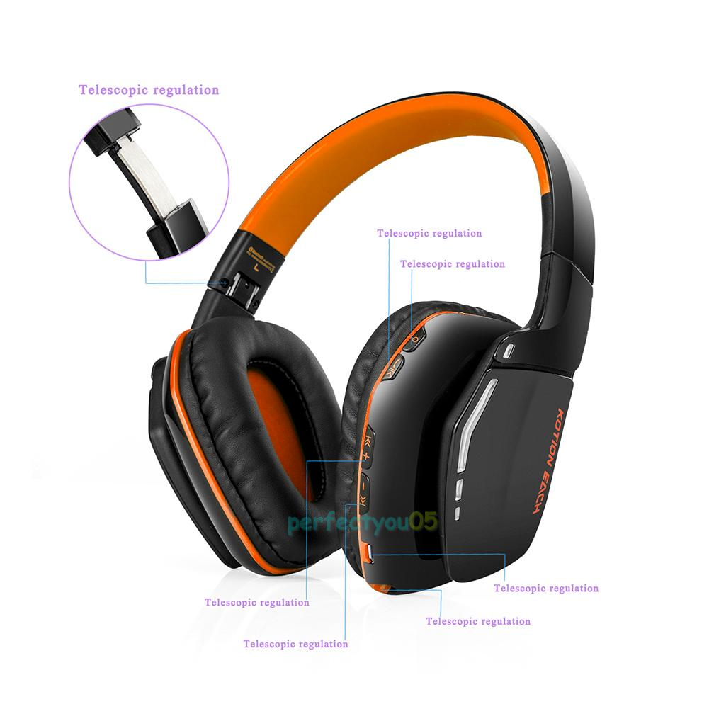 wireless bluetooth stereo headphone headset earphone foldable w mic for ps4 mac ebay. Black Bedroom Furniture Sets. Home Design Ideas
