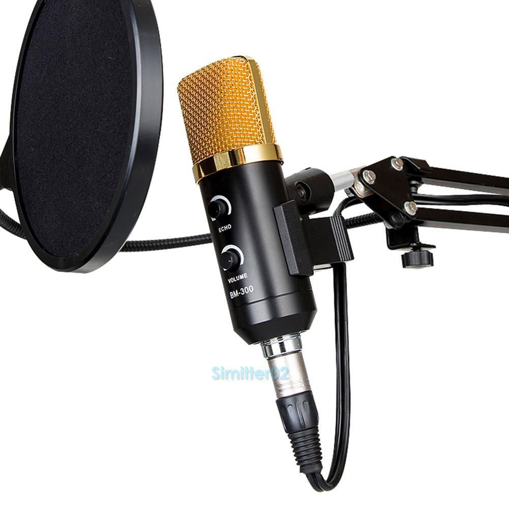 usb condenser studio sound record microphone mic with shock mount tripod. Black Bedroom Furniture Sets. Home Design Ideas