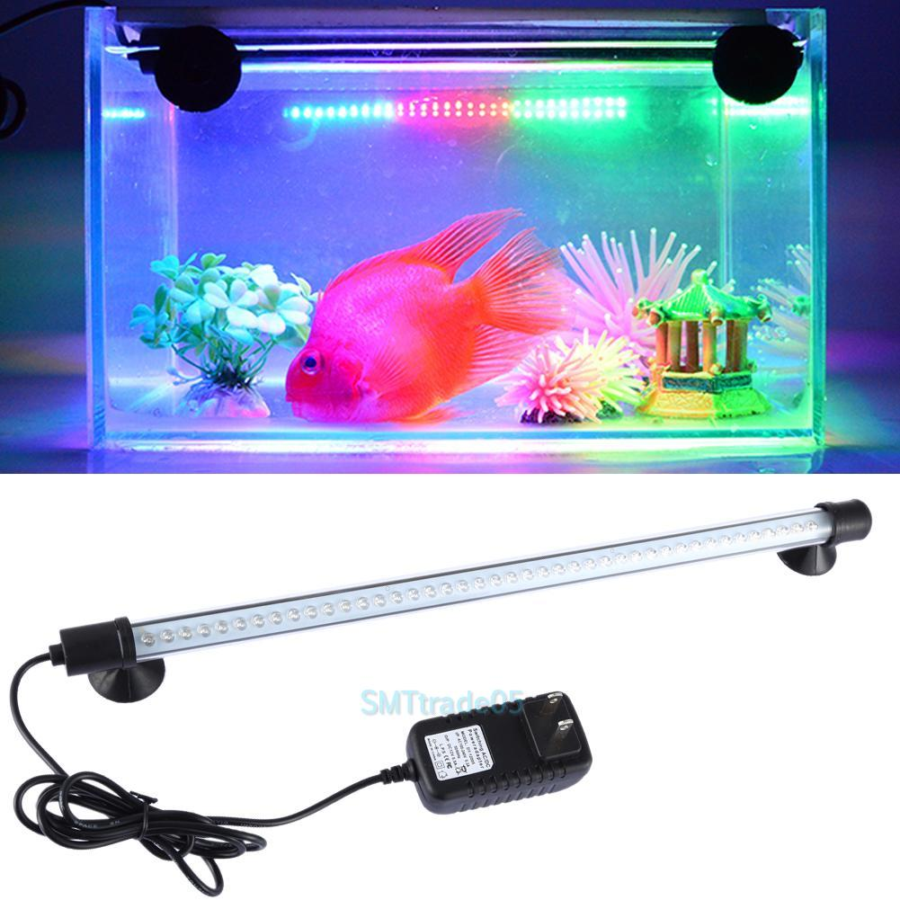 Submersible aquarium fish tank waterproof rgb white led for Fish tank led light bar