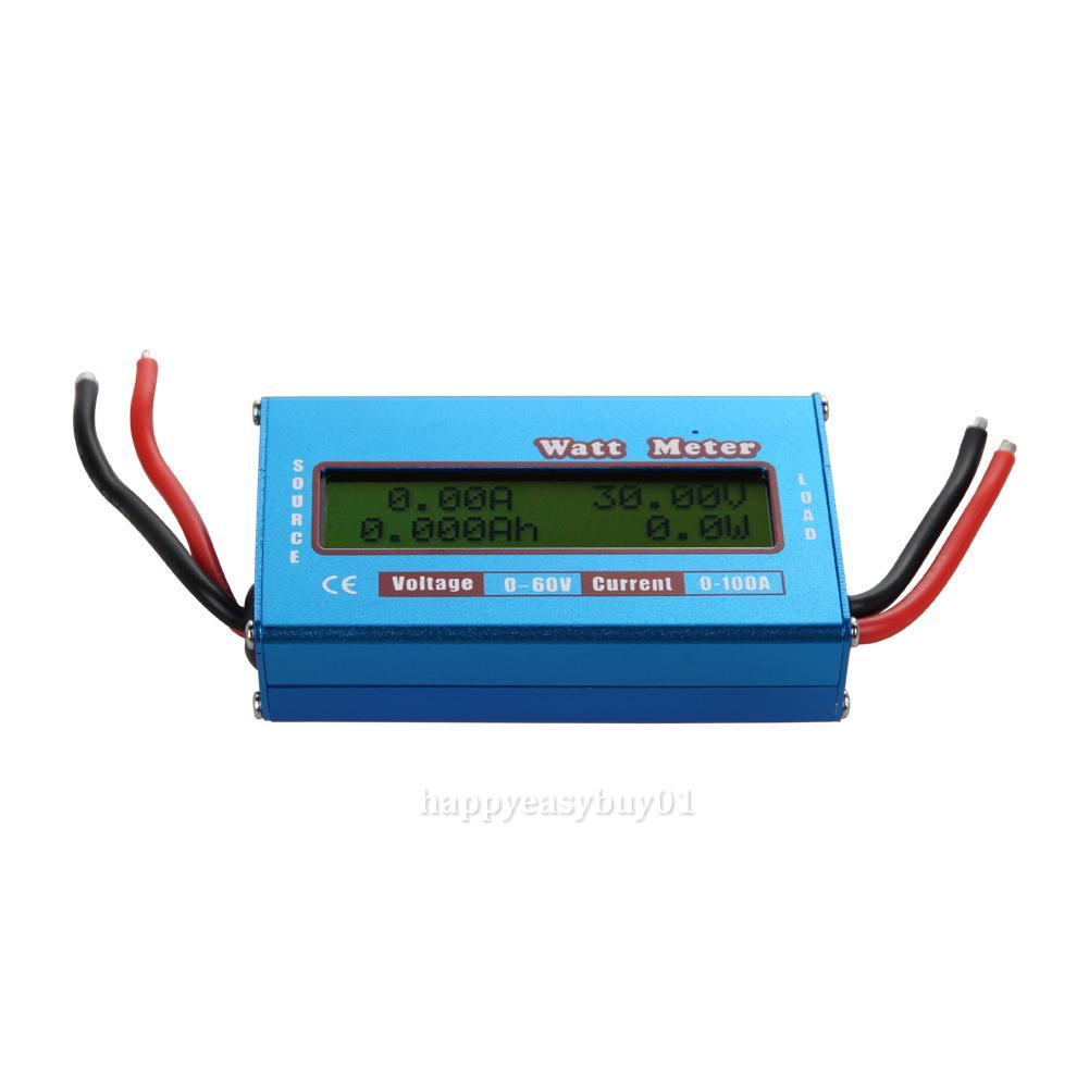 Backup Battery For Amp Meter : Digital lcd watt meter battery balance v a dc rc amp