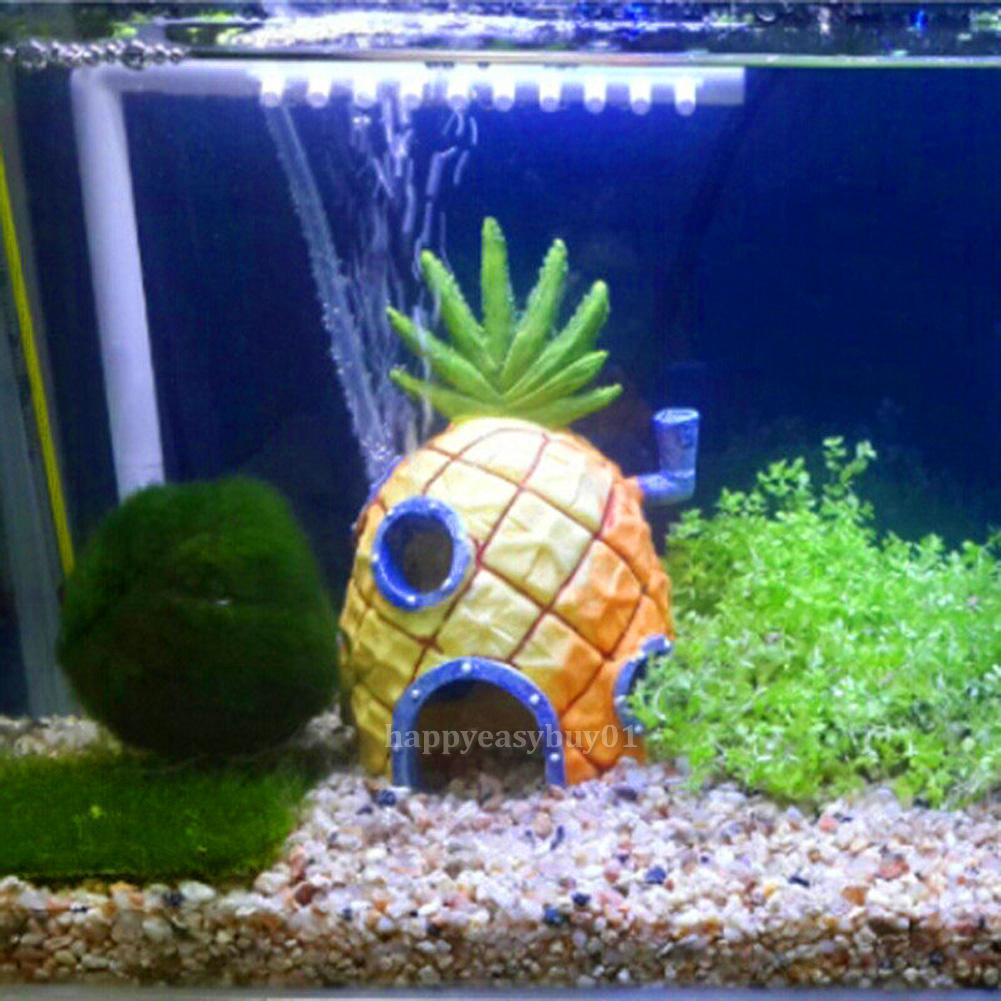 Spongebob squarepants pineapple house fish tank aquarium for Fish tank house