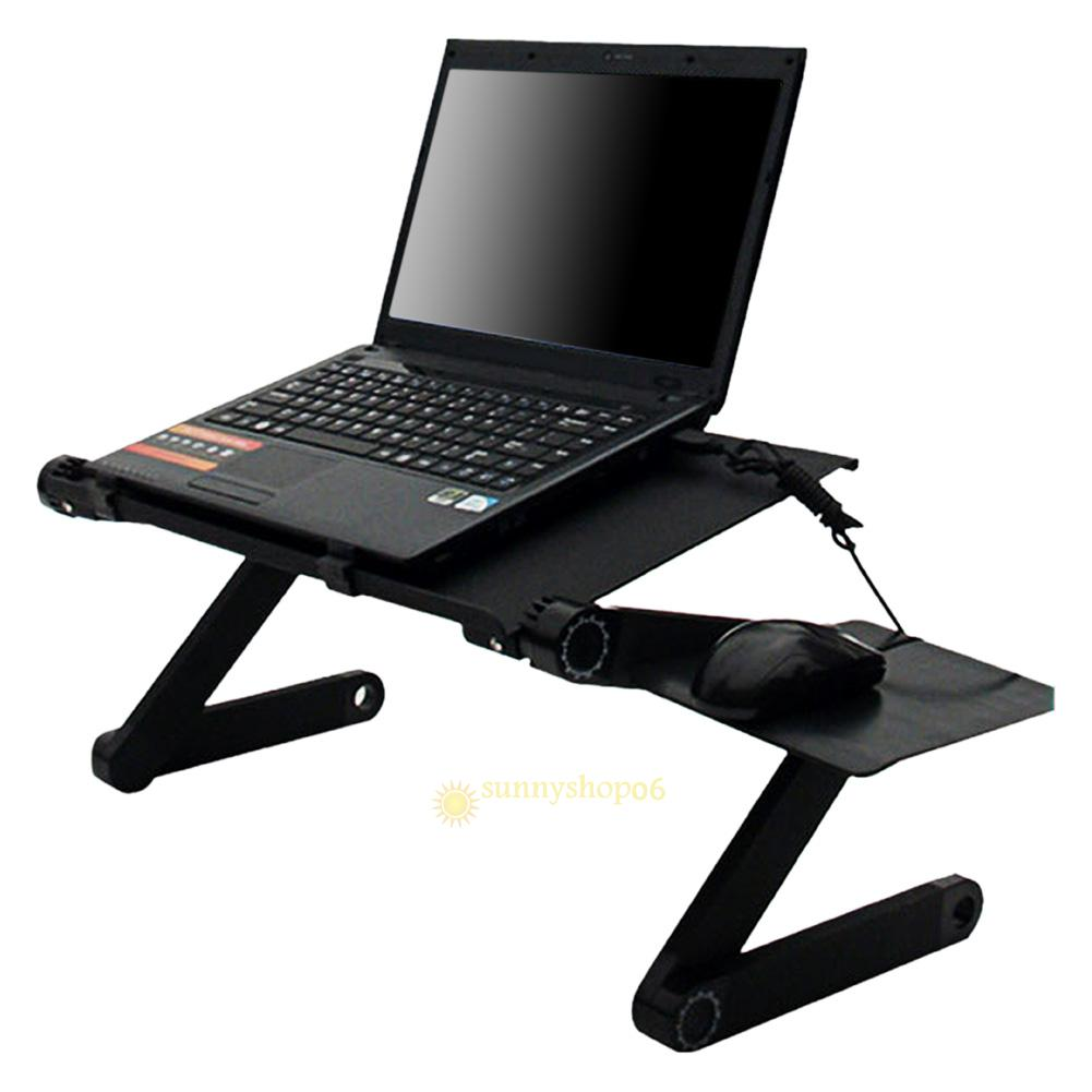 Portable Foldable Adjustable Laptop Desk Computer Table