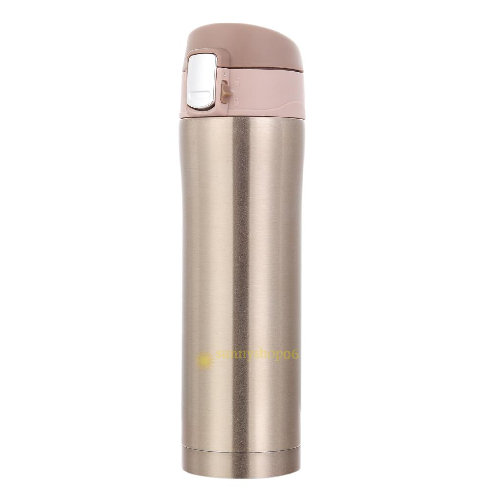 500ml Stainless Steel Travel Mug Tea Water Coffee Bottle ...