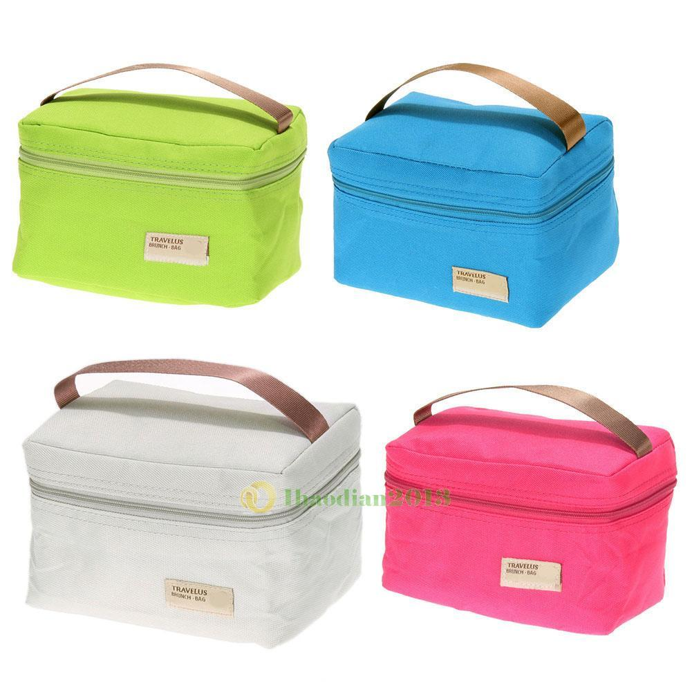 thermal insulated lunch box cooler bag tote bento pouch container storage bag. Black Bedroom Furniture Sets. Home Design Ideas