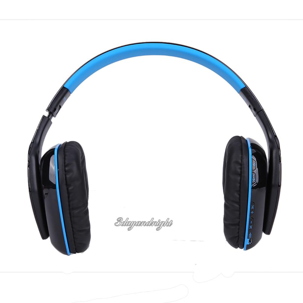 foldable wireless bluetooth 4 1 stereo headphone headset for ps4 smartphone pc. Black Bedroom Furniture Sets. Home Design Ideas