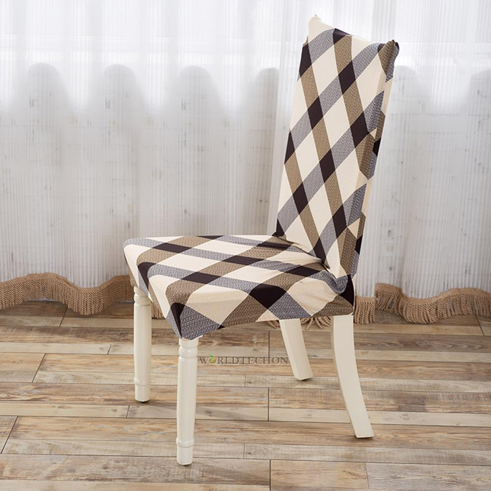 Removable Cotton Blend Stretch Elastic Slipcovers Home Dining Seatl Chair Cov