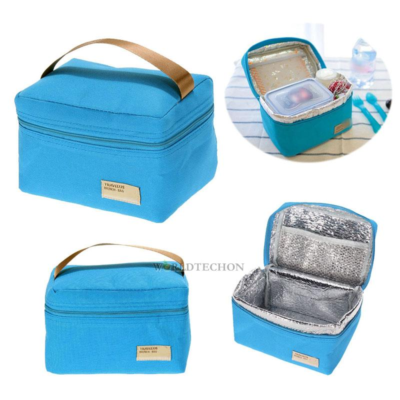 thermal insulated lunch box cooler bag tote bento pouch picnic bag container. Black Bedroom Furniture Sets. Home Design Ideas