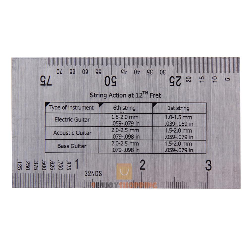 Electric Guitar Action 12th Fret Mm : string action gauge ruler guide setup measuring luthier for guitar bass banjo ebay ~ Vivirlamusica.com Haus und Dekorationen