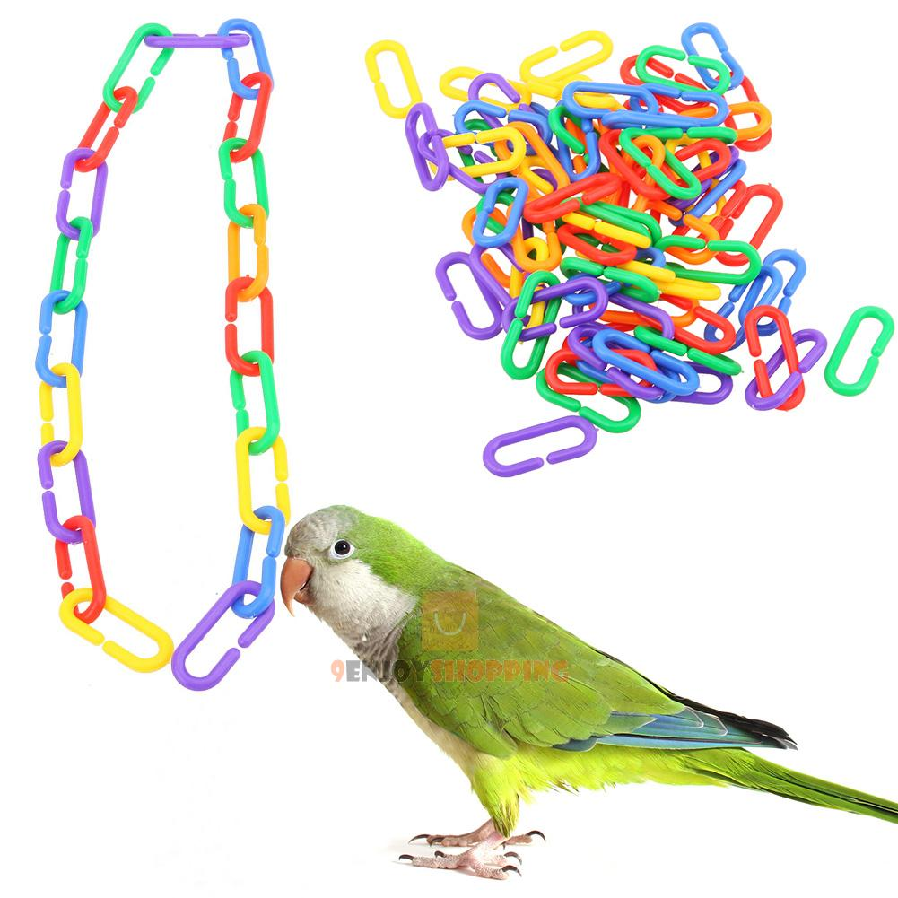 Bird Toys For Birds : Pcs colorful plastic c clips hooks chain links parrot
