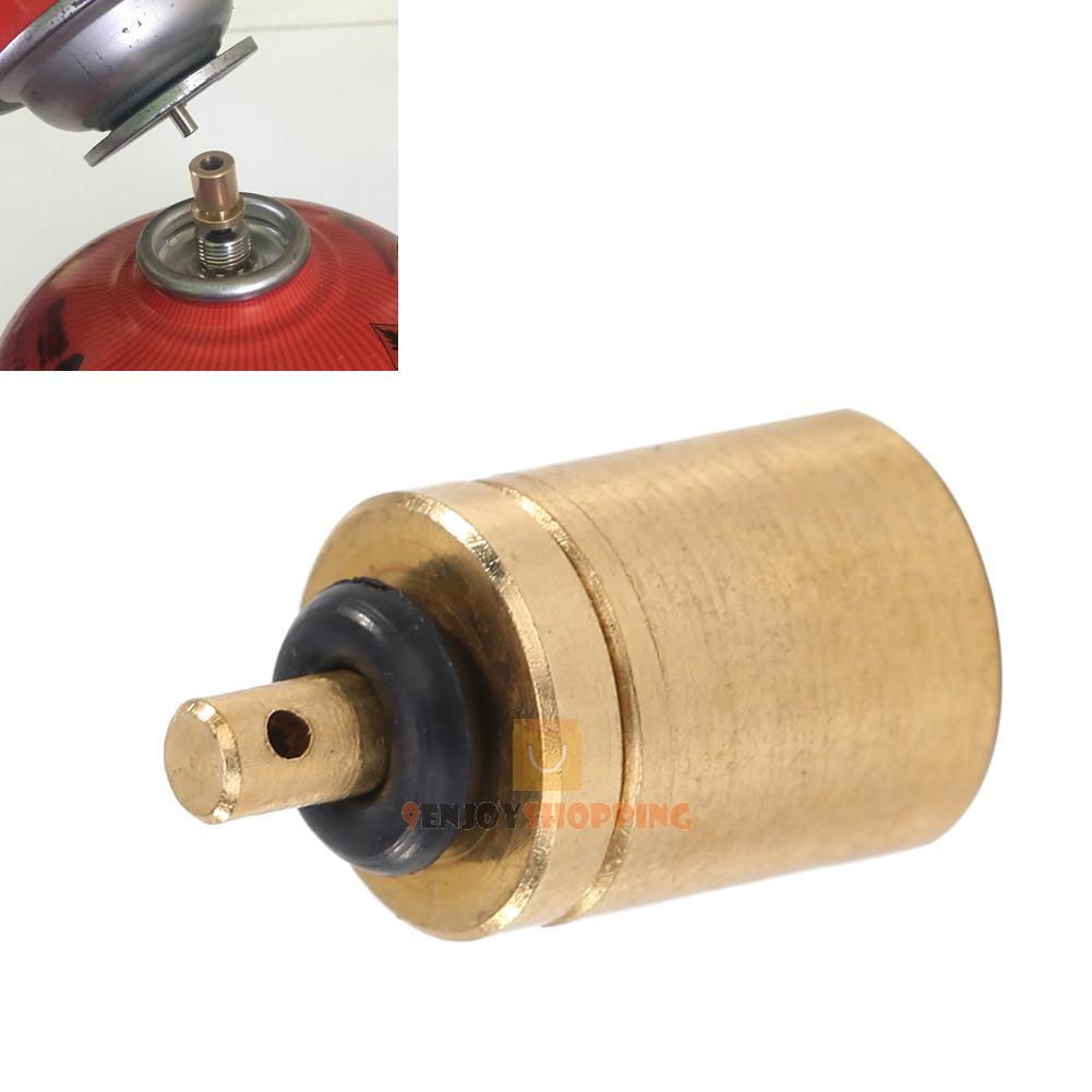 Gas refill adapter for outdoor camping stove cylinder tank