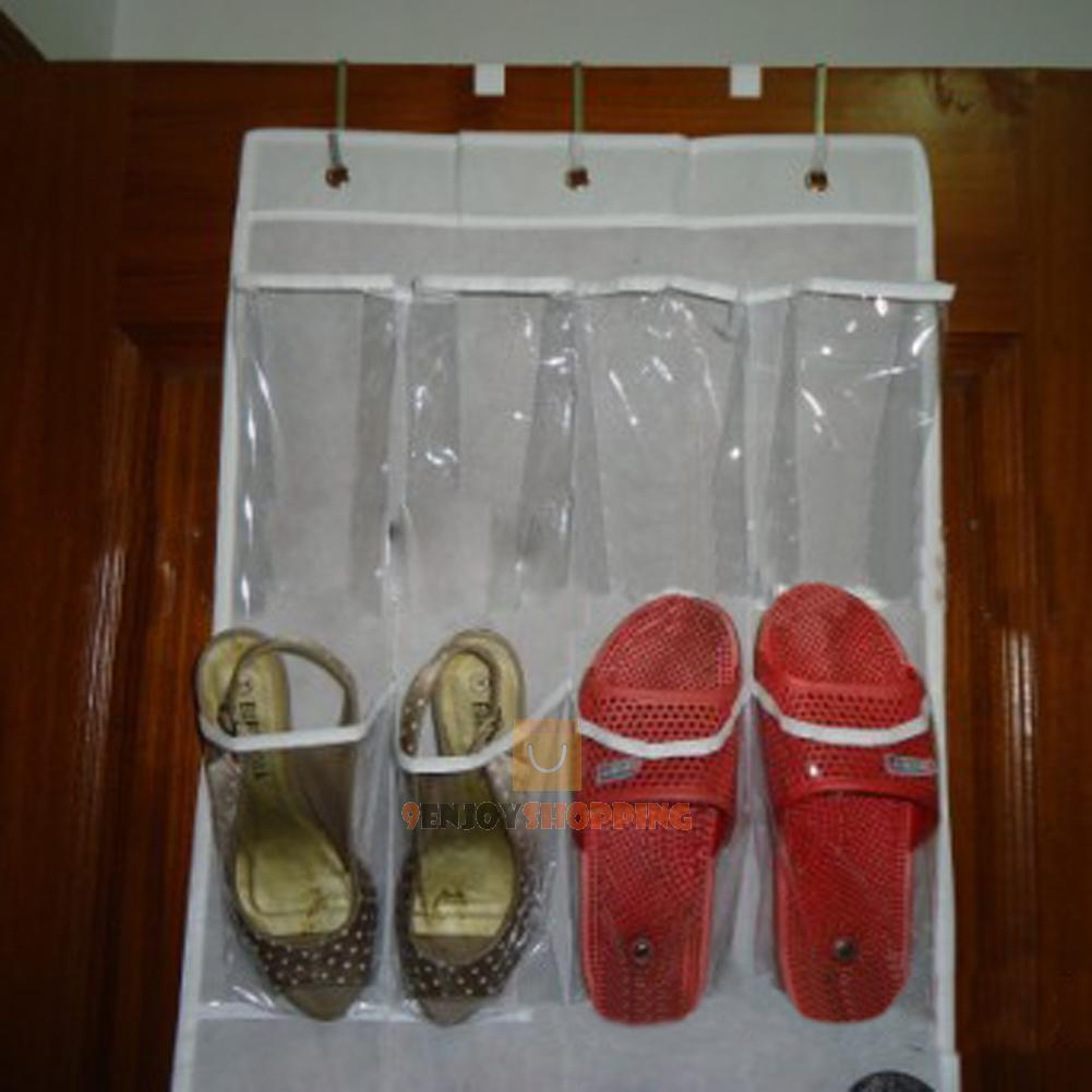 24 Pocket Door Hanging Holder Shoe Organiser Storage Rack