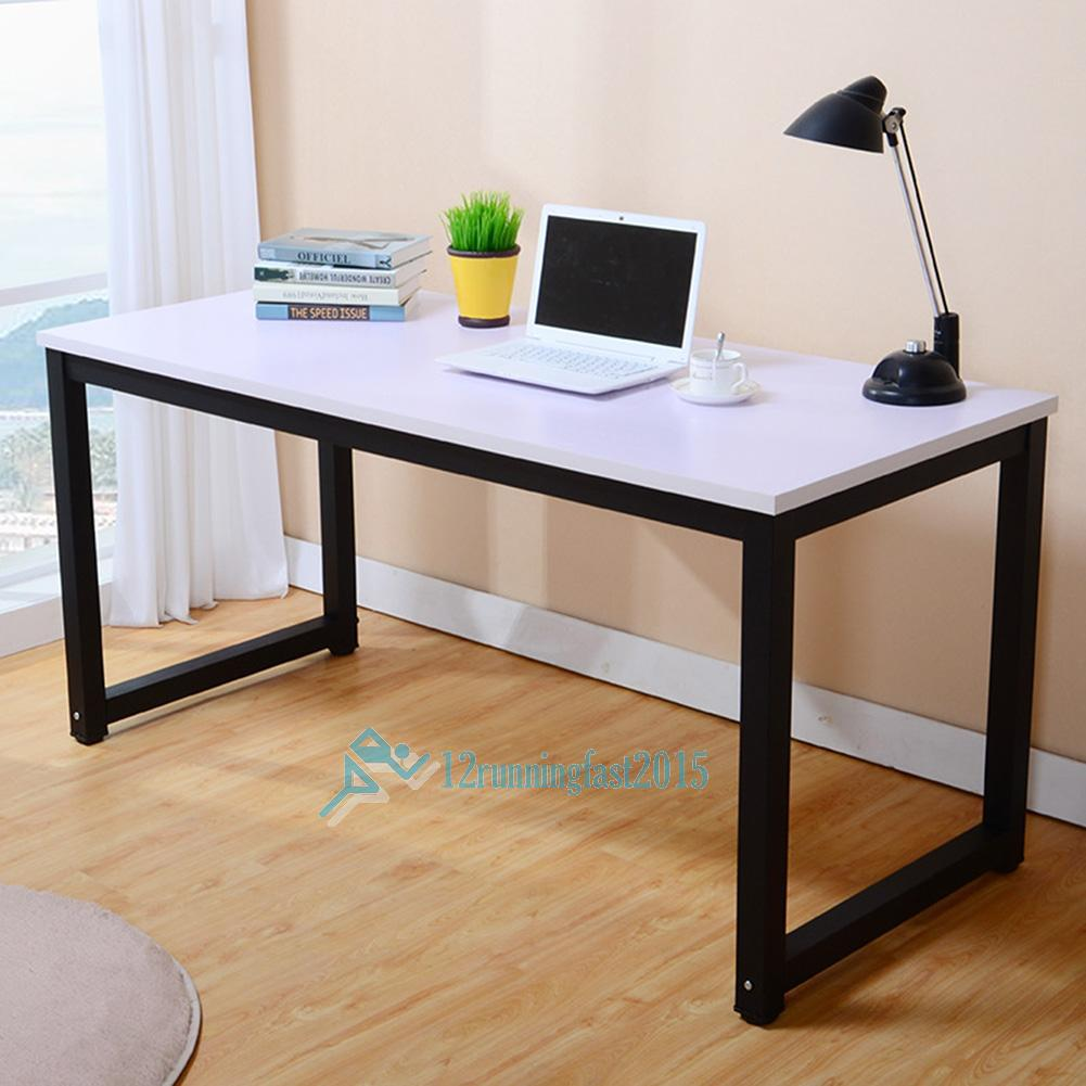 Computer Desk Pc Laptop Wood Table Home Office Study: Modern Omputer Desk PC Laptop Table Wood Workstation Study