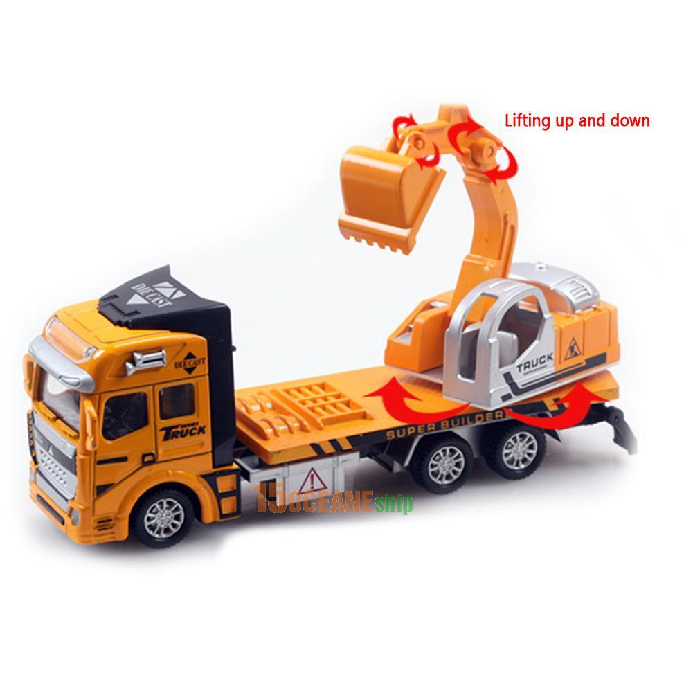 Construction Toys For Boys : Pull back movable construction truck car auto toy for