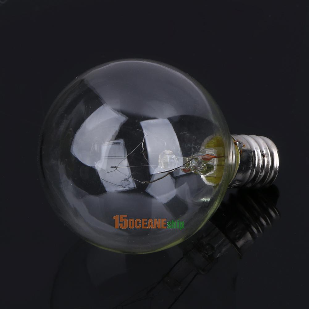 Vintage Patio Globe String Lights Black Cord Clear Glass Bulbs 25 eBay