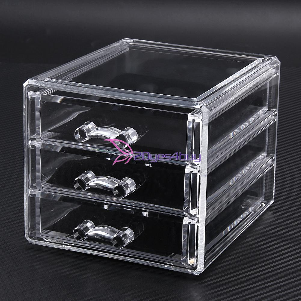 Acrylic Makeup Organizer Drawer Case Cosmetic Storage Box