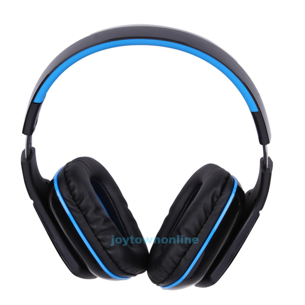 wireless bluetooth4 1 headphones foldable gaming headset w mic for pc ps4 phone. Black Bedroom Furniture Sets. Home Design Ideas