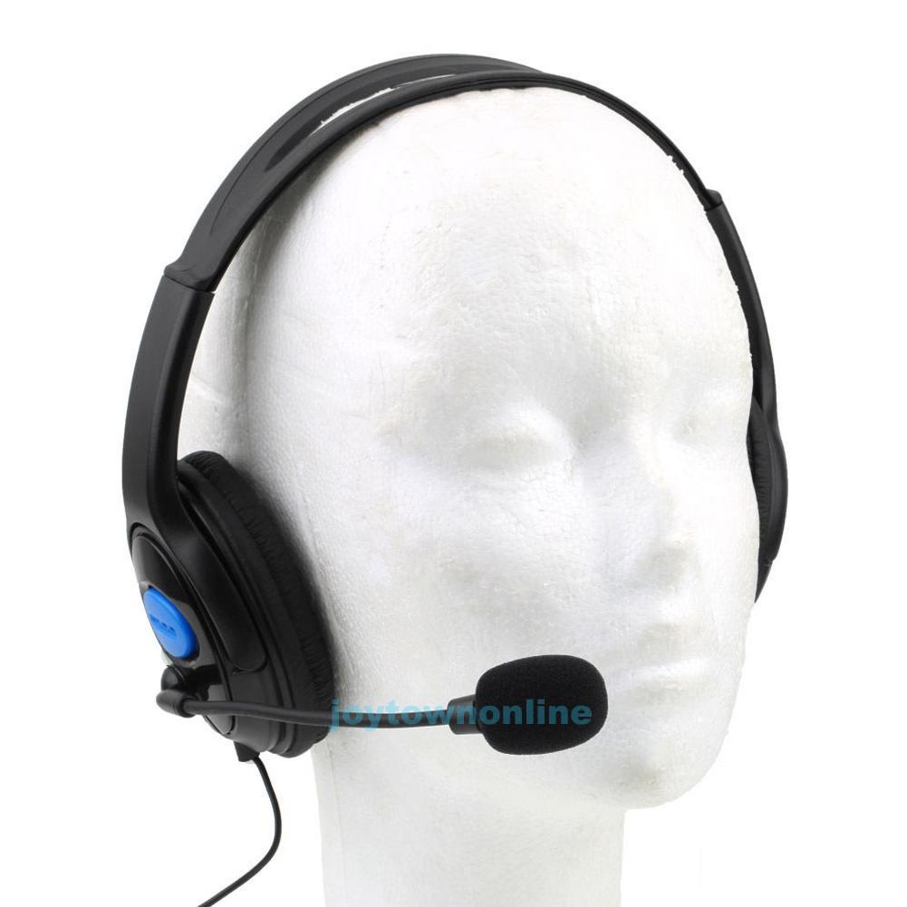 gaming headset stereo kopfh rer mit mikrofon 3 5mm f r ps4. Black Bedroom Furniture Sets. Home Design Ideas