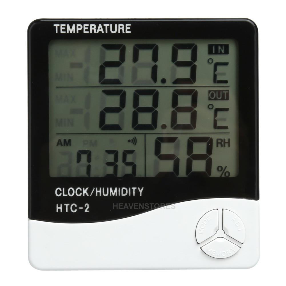 Lcd Digital Thermometer Hygrometer Meter Indoor Outdoor