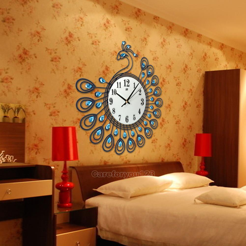 living room clocks luxury peacock large wall clocks metal living room 10229