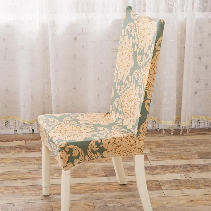 stretch elastic seat cover kitchen bar dining chair cover hotel