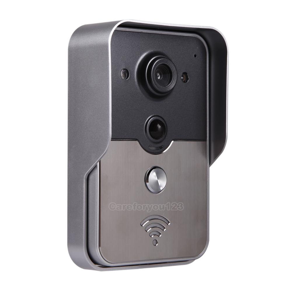 Wireless wifi remote video camera door phone rainproof for Door video camera