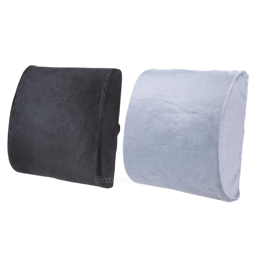 memory foam lumbar cushion travel pillow car seat home